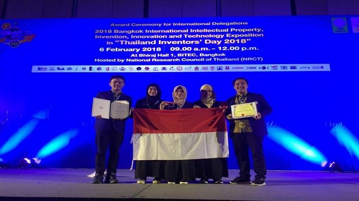 Membanggakan, Indonesia Raih 15 Medali Emas Di Ajang IPITEX 2018 Thailand