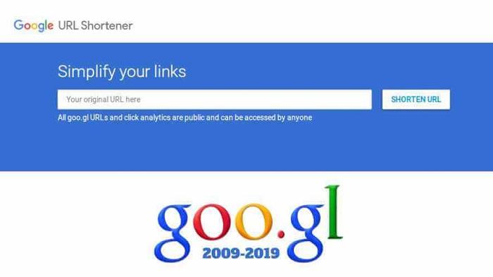 Layanan Pemendek URL goo.gl Di Matikan