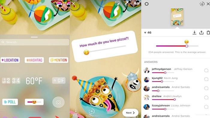 Polling Di Instagram Makin Menarik Berkat Stiker Emoji Slider