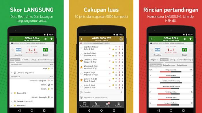 FashScore ID, Aplikasi Livescore Paling Lengkap Untuk Penggemar Olah Raga Indonesia