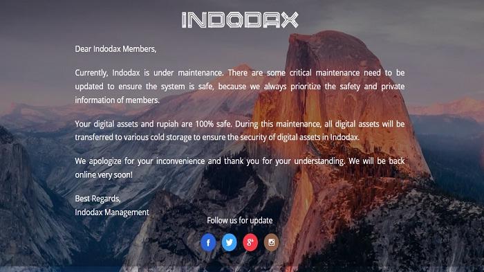 Ternyata Ini Penyebab Indodax Down Dan Tak Bisa Diakses