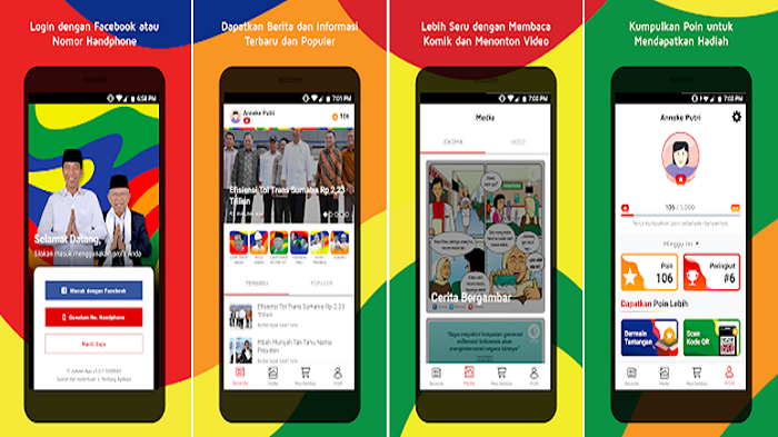 JokowiApp, Aplikasi Buatan Timses Jokowi-Ma'ruf Untuk Pilpres2019